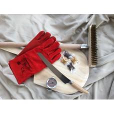 Ultimativ gave - Børste, spade, handsker, termometer, pizzakniv og chokolade