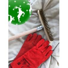 Julegave 1 - Børste og handsker