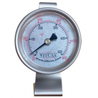 Fritstående termometer til pizzaovn, 0-500 grader